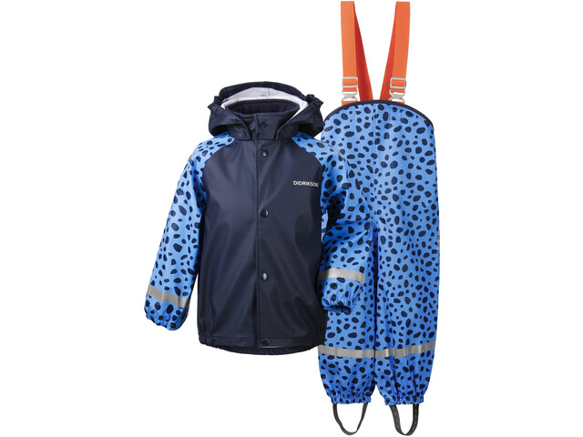 DIDRIKSONS Slaskeman 4 Rain Set Kids, breeze blue dots